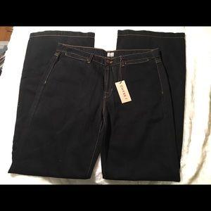 J Brand Wide Leg Dark Wash Women's Jeans
